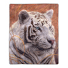Sherpa Fleece Throw Blanket - White Tiger Print Pattern, Lightweight Hypoallergenic Bed or Couch Soft Plush Blanket for Adults and Kids by Lavish Home