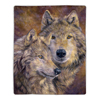 Sherpa Fleece Throw Blanket - Wolf Print Pattern, Lightweight Hypoallergenic Bed or Couch Soft Cozy Plush Blanket for Adults and Kids by Lavish Home