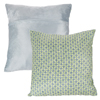 Modern Geometric Textured Throw Pillow and Insert- Home D�cor Diamond Design Accent Pillow Invisible Zipper, 18 Inch by Lavish Home ? Green