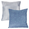 Modern Geometric Textured Throw Pillow and Insert- Home D�cor Diamond Design Accent Pillow Invisible Zipper, 18 Inch by Lavish Home ? Navy Blue
