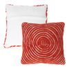 Modern Geometric Decorative Throw Pillow and Insert-Home D�cor Concentric Circle Accent Pillow with Hidden Zipper,18 Inch by Lavish Home ?Clay Red