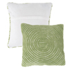 Modern Geometric Decorative Throw Pillow and Insert-Home D�cor Concentric Circle Accent Pillow with Hidden Zipper,18 Inch by Lavish Home ?Leaf Green