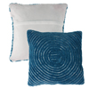 Modern Geometric Decorative Throw Pillow and Insert-Home D�cor Concentric Circle Accent Pillow with Hidden Zipper,18 Inch by Lavish Home ?Navy Blue