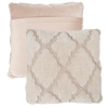 Geometric Textured Decorative Throw Pillow and Insert- Home D�cor Lattice Trellis Accent Pillow with Invisible Zipper, 18 Inch by Lavish Home ? Beige