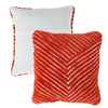 Modern Geometric Decorative Throw Pillow and Insert- Home D�cor Diagonal Stripe Accent Pillow with Hidden Zipper, 18 Inch by Lavish Home ?Clay Red