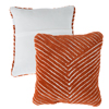 Modern Geometric Decorative Throw Pillow and Insert- Home D�cor Diagonal Stripe Accent Pillow with Hidden Zipper, 18 Inch by Lavish Home ?Burnt Orange