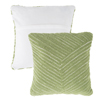 Modern Geometric Decorative Throw Pillow and Insert- Home D�cor Diagonal Stripe Accent Pillow with Hidden Zipper, 18 Inch by Lavish Home ?Leaf Green