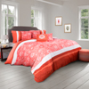 Comforter Set- 5 Piece Queen Bedding Set With 2 Decorative Pillows, 2 Shams and Whimsical Floral Design By Lavish Home (Queen Size, Red)