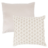Modern Geometric Decorative Throw Pillow and Insert- Home D�cor Triangle Accent Pillow with Invisible Zipper, 18 Inch by Lavish Home ? Ivory Beige