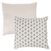 Modern Geometric Decorative Throw Pillow and Insert- Home D�cor Triangle Accent Pillow with Invisible Zipper, 18 Inch by Lavish Home ? Ivory Taupe