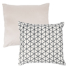 Modern Geometric Decorative Throw Pillow and Insert - Home D�cor Triangle Accent Pillow Invisible Zipper, 18 Inch by Lavish Home ? Ivory Charcoal