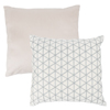 Modern Geometric Decorative Throw Pillow and Insert- Home D�cor Triangle Accent Pillow Invisible Zipper, 18 Inch by Lavish Home ? Ivory Silver Grey
