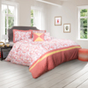Comforter Set- 5 Piece Queen Bedding Set With 2 Decorative Pillows, 2 Shams and Whimsical Modern Design By Lavish Home (Queen Size, Salmon)
