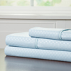 Brushed Microfiber Sheets Set- 3 Piece Hypoallergenic Bed Linens with Deep Pocket Fitted Sheet and Embossed Design by Lavish Home (Blue, TXL)
