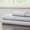 Brushed Microfiber Sheets Set- 3 Piece Hypoallergenic Bed Linens with Deep Pocket Fitted Sheet and Embossed Design by Lavish Home (Platinum, TXL)
