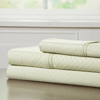 Brushed Microfiber Sheets Set- 3 Piece Hypoallergenic Bed Linens with Deep Pocket Fitted Sheet and Embossed Design by Lavish Home (Sage, TXL)