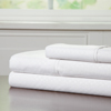 Brushed Microfiber Sheets Set- 3 Piece Hypoallergenic Bed Linens with Deep Pocket Fitted Sheet and Embossed Design by Lavish Home (White, TXL)