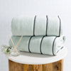 Luxury Cotton Towel Set- 2 Piece Bath Sheet Set Made From 100% Zero Twist Cotton- Quick Dry, Soft and Absorbent By Lavish Home (Seafoam / Black)