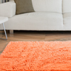 Lavish Home High Pile Shag Rug  Peach  21x36