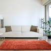 Lavish Home High Pile Shag Rug Burnt Orange 30x60