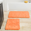 Lavish Home 2 Piece Memory Foam Shag Bath Mat ? Peach