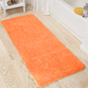 Lavish Home Memory Foam Shag Bath Mat 2ft x 5 ft- Peach