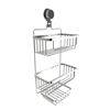 Wall Mounted 3 Tier Shower Caddy- Hanging Shower Storage Rack for Bathroom Space Saving with Stainless Steel Twist Lock Suction Cup by Lavish Home