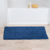 Cotton Reversible Bath Mat- 100 Percent Cotton, Soft and Absorbent Hand Tufted Bath Rug-Machine Washable By Lavish Home (24? x 40?) (Navy)