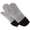Silicone Oven Mitts ? Extra Long Professional Quality Heat Resistant with Quilted Lining and 2-sided Textured Grip ? 1 pair Gray by Lavish Home