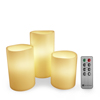 Flameless LED Candles, Remote Controlled 3-Piece Candle Set by Lavish Home ? For Votive Holders ? Home, Wedding, Bridal Shower, Christmas Decor