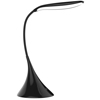 Touch Sensor Lamp- Dimmable, Battery Operated LED Light with Adjustable Brightness and USB Option- Portable Gooseneck Desk Lamp by Lavish Home- Black