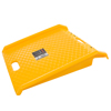 Curb Ramp, Portable Poly Ramp With 1000lbs Weight Capacity By Stalwart (For Delivery, Hand Truck, Carts, Wheelchairs, Walkers) (Yellow)