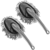 Car Duster for Interior Automotive Detailing- 2 Pack Washable Dashboard Brush Cleaner Tool Set for Vehicles or Household Cleaning by Stalwart, Gray