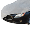 Car Cover- Dust Protection for Sedans & Hatchbacks up to 14.2?- Breathable Fabric for Indoor Covering with Elastic Hem by Stalwart (Gray)