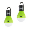 Portable LED Tent Light Bulb- 2 Pack Hanging Lights with 3 Settings and 60 Lumen By Wakeman Outdoors (Green) (For Camping Hiking Tents and Emergency)