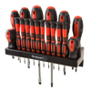 18 Piece Screwdriver Set with Wall Mount and Magnetic Tips- Precision Kit Including Flatheads, Phillips, and Torx Screwdrivers By Stalwart