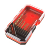Drill Bit Set, Titanium Finish and High-Speed Steel Build? Straight Shank Twist Bits for Power Drill- 15 Piece Kit with Storage Case by Stalwart