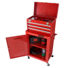 Rolling Tool Box Cabinet, 3 Drawer Portable Storage Chest Tools and Garage Organizer With Wheels and Sliding Drawers By Stalwart (Red)