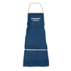 Denim Shop Apron with 3 Pockets for Tools and Supplies- Multi Use Adjustable Utility Bib with Comfortable Cotton Straps by Stalwart (Blue)