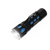 Handheld Aluminum LED Flashlight- 200 Lumen Water Resistant Light with 3 Settings and Focus Zoom By Stalwart (Blue) (For Camping Hiking Emergency)