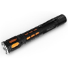 Handheld Aluminum LED Flashlight- 300 Lumen Water Resistant Light with 3 Settings and Focus Zoom By Stalwart (Orange) (For Camping Hiking Emergency)