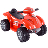 Ride On Toy Quad ATV, Battery Powered Dinosaur Four Wheeler Toy With Sound Effects by Lil' Rider? Toys for Boys and Girls 2 - 4 Year Olds (Red)