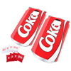 Coca Cola Cornhole Outdoor Game Set, 2 Wooden Coke Can-Shaped Corn Hole Toss Boards with 8 Bean Bags by Hey! Play!
