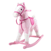 Rocking Horse Plush Animal on Wooden Rockers with Sounds, Saddle & Reins, Ride on Toy, Toddlers to 4 Years Old by Happy Trails - Pink