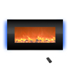 Electric Fireplace-  Wall Mounted with 13 Backlight Colors, Adjustable Heat and Remote Control- 31 inch by Northwest (Black)
