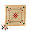 Carrom Board Game Classic Strike and Pocket Table Game with Cue Sticks, Coins, Queen and Striker for Adults, Kids, Boys and Girls by Hey! Play!