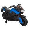 Ride on Toy, 2 Wheel Motorcycle with Training Wheels by Lil' Rider - Battery-Powered Ride-on Toy for Toddlers Boys and Girls 2-5 Years Old - Blue
