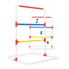 Ladder Toss Outdoor Game, Two PVC Game Sets with 6 Bolas and Carrying Case for Kids and Adults by Hey! Play!