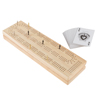 Wood Cribbage Board Game Set- Complete Set With Playing Cards, Pegs, Wood Board and Storage Area for Adults and Kids, Boys and Girls by Hey! Play!