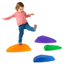 Triangular Stepping Stones- Fun Triangles for Balance, Coordination and Exercise for Kids- Set of 6 (3 Small Stones and 3 Large Stones) By Hey! Play!